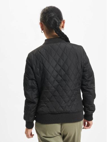 Urban Classics Damen College Jacke Diamond Quilt in schwarz Großer Verkauf Verkauf Online 9GD1D