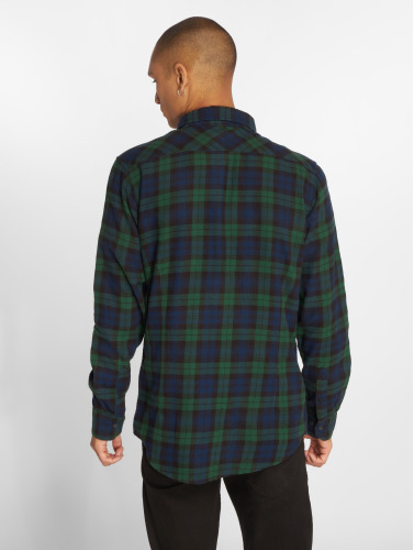 Urban Classics Herren Hemd Checked Flanell 3 in blau