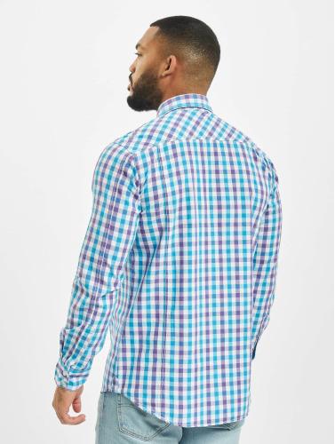 Urban Classics Herren Hemd Tricolor Big Checked in violet