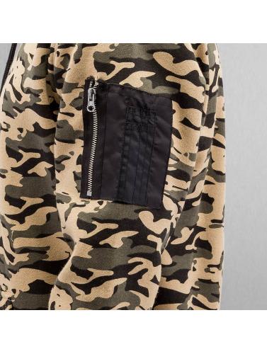 Urban Classics Herren Hoody Sweat Camo Bomber in camouflage
