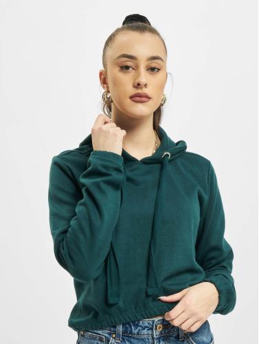 Urban Classics Damen Hoody Interlock Short in grün