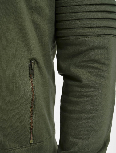 Urban Classics Herren Hoody Pleat Sleeves Terry HiLo in olive