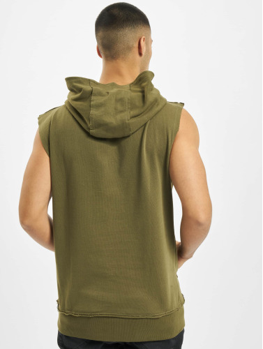 Urban Classics Herren Hoody Open Edge Sleeveless in olive
