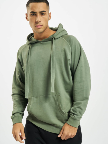 Urban Classics Herren Hoody Garment Washed Terry in olive