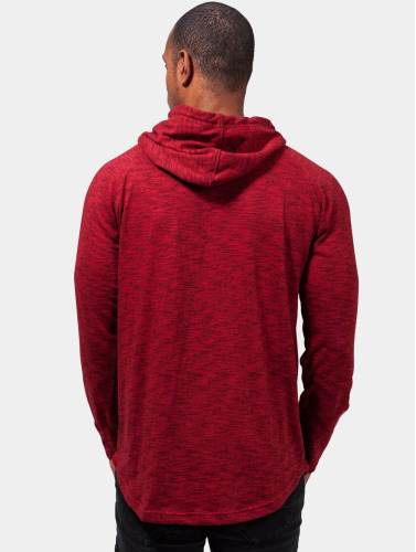Urban Classics Herren Hoody Melange Shaped in rot