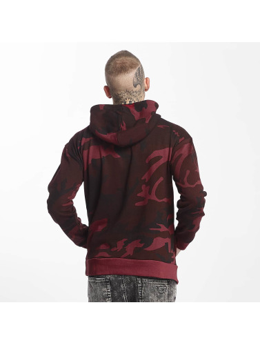 Urban Classics Herren Hoody High Neck Camo in rot