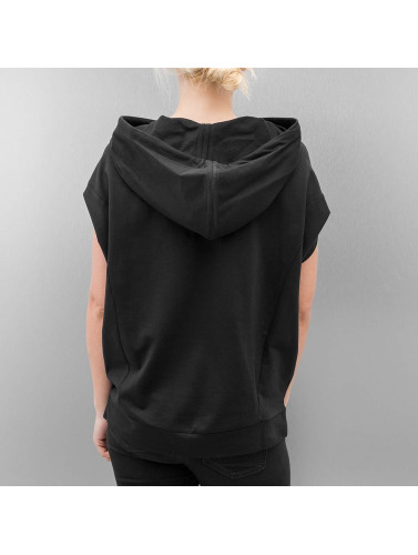Urban Classics Damen Hoody Sleeveless Terry in schwarz