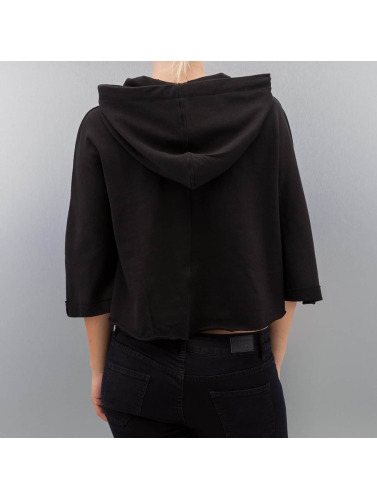 Urban Classics Damen Hoody Cropped in schwarz