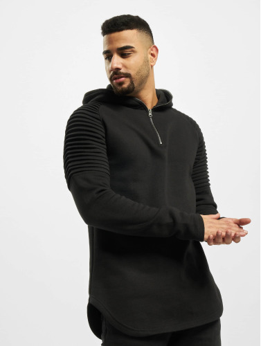 Urban Classics Herren Hoody Pleat Sleeves Terry in schwarz