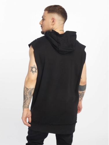 Urban Classics Herren Hoody Open Edge Sleeveless in schwarz
