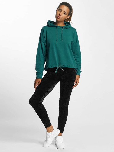 Urban Classics Damen Hoody Oversized Gathering in türkis