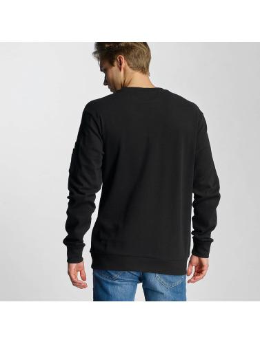 Urban Classics Hombres Jersey Interlock Bomber in negro
