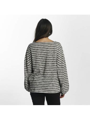 Urban Classics Mujeres Jersey Oversize Stripe in negro
