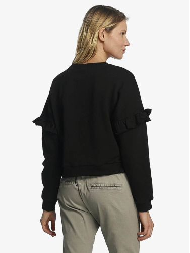 Urban Classics Mujeres Jersey Oversize Volant in negro