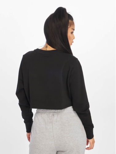 Urban Classics Mujeres Jersey Terry Cropped in negro