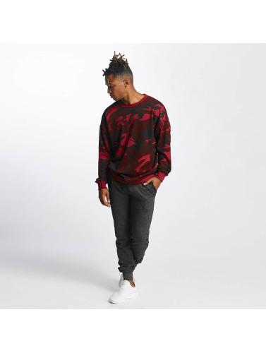 Urban Classics Hombres Jersey Camo in rojo