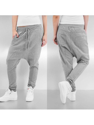 Urban Classics Damen Jogginghose Light Fleece Sarouel in grau