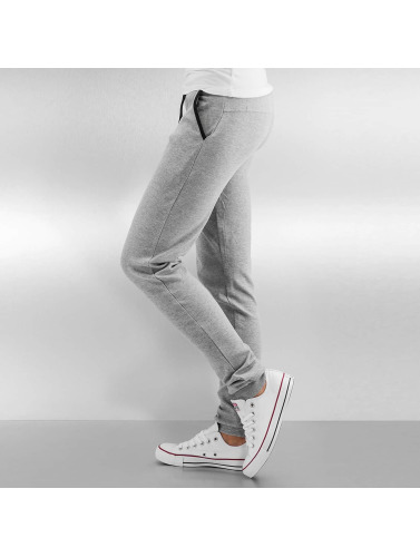 Urban Classics Damen Jogginghose Fitted Athletic in grau