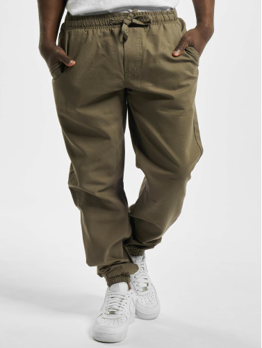 Urban Classics Herren Jogginghose Washed Canvas in olive