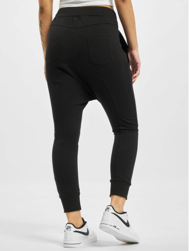 Urban Classics Damen Jogginghose Light Fleece Sarouel in schwarz