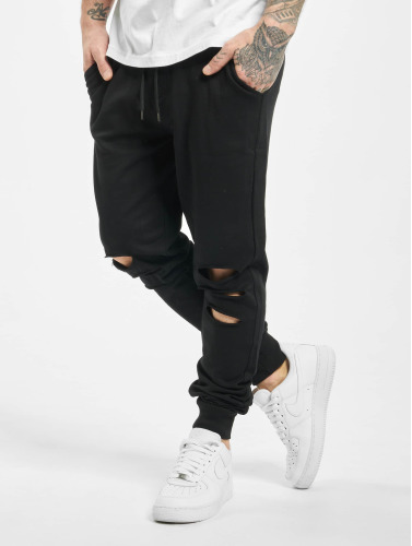 Urban Classics Herren Jogginghose Cutted Terry in schwarz