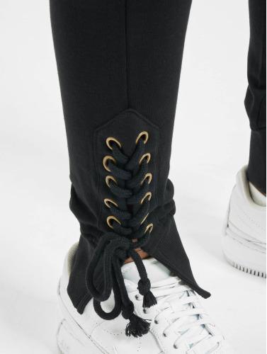 Urban Classics Damen Jogginghose Lace Up Fitted in schwarz