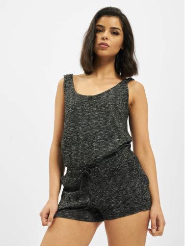 Urban Classics Damen Jumpsuit Ladies Melange Hot in grau