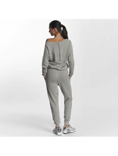Urban Classics Damen Jumpsuit Terry in grau