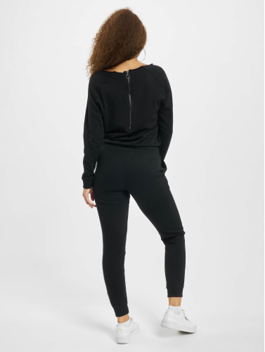 Urban Classics Damen Jumpsuit Longsleeve Terry in schwarz