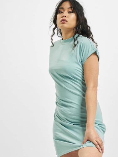 Urban Classics Damen Kleid Turtle Extended Shoulder in blau