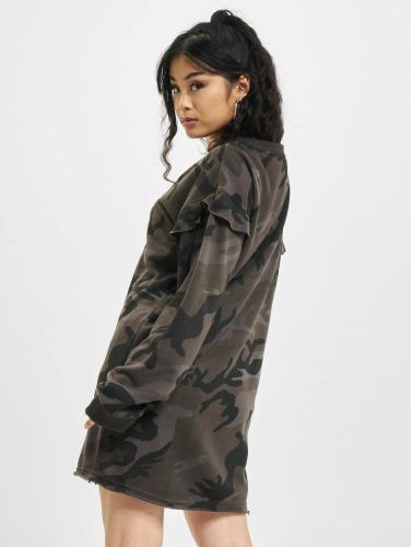 Urban Classics Damen Kleid Camo Volant in camouflage