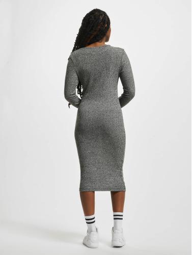 Urban Classics Damen Kleid Rib in grau