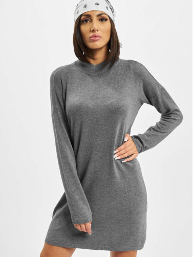 Urban Classics Damen Kleid Oversized Turtleneck in grau