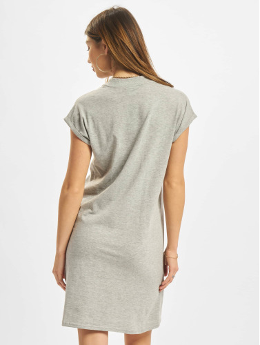 Urban Classics Damen Kleid Turtle Extended Shoulder in grau