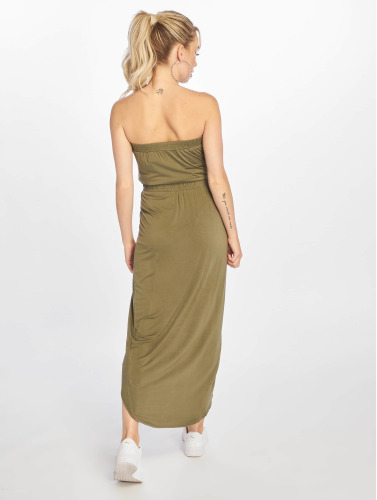 Urban Classics Damen Kleid Ladies Viscose Bandeau in olive