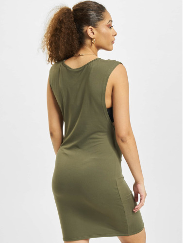 Urban Classics Damen Kleid Deep Armhole in olive