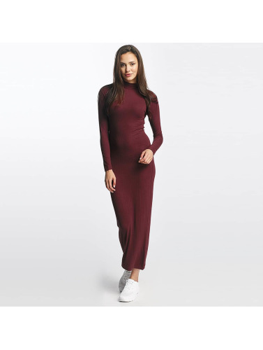 Urban Classics Damen Kleid Long Turtleneck in rot