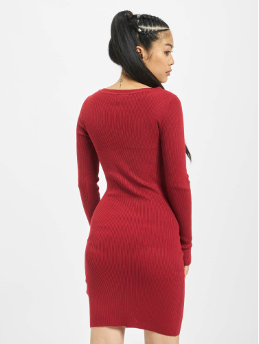 Urban Classics Damen Kleid Cut Out in rot