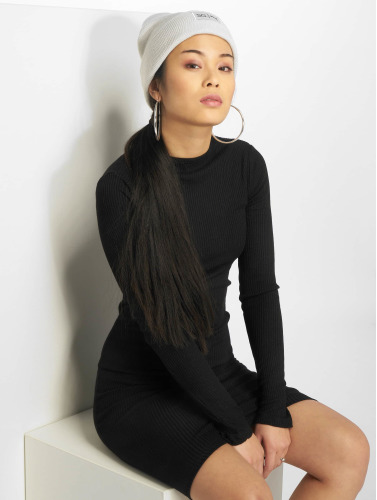 Urban Classics Damen Kleid Rib in schwarz