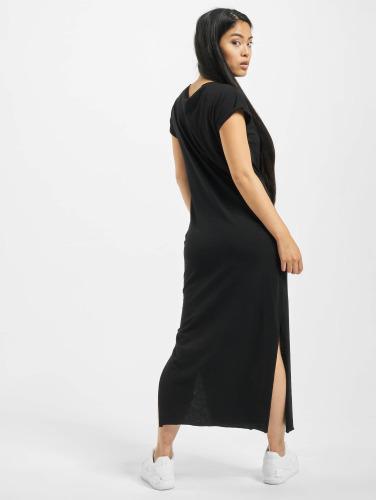 Urban Classics Damen Kleid Ladies Slub in schwarz
