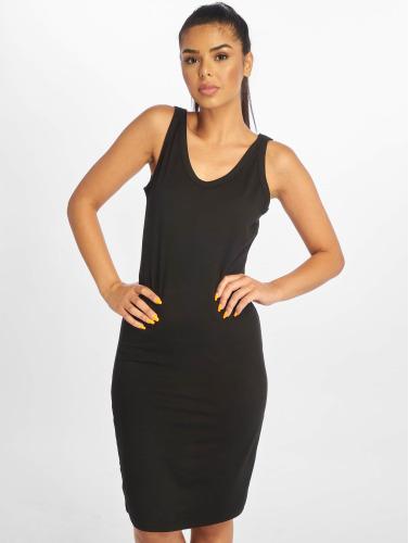 Urban Classics Damen Kleid Lace Up in schwarz