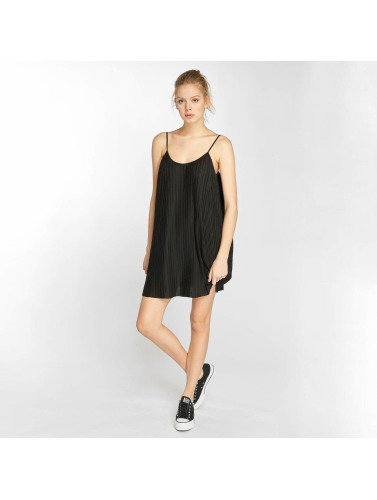 Urban Classics Damen Kleid Jersey Pleated Slip in schwarz