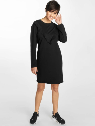 Urban Classics Damen Kleid Terry Volant in schwarz