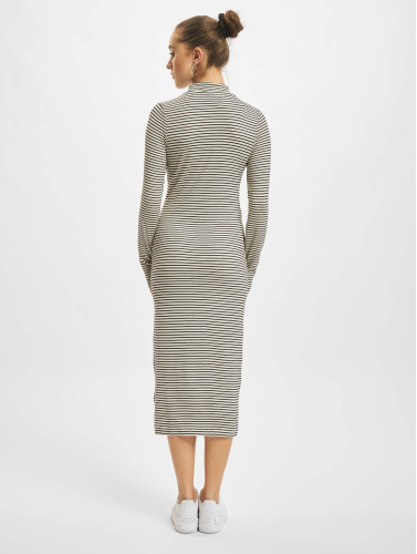 Urban Classics Damen Kleid Striped Turtleneck in weiß