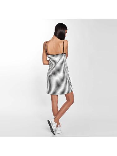 Urban Classics Damen Kleid Striped Pleated Slip in weiß