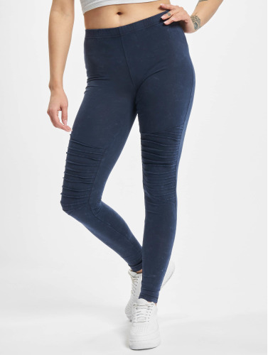 Urban Classics Damen Legging Denim Jersey in blau