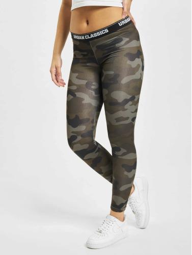 Urban Classics Damen Legging Camo Logo in camouflage