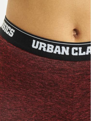 Urban Classics Damen Legging Active Melange Logo in rot