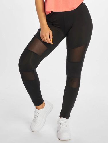 Urban Classics Damen Legging Ladies Tech Mesh in schwarz