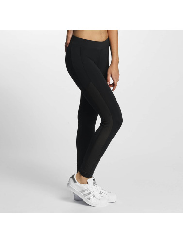 Urban Classics Damen Legging Tech Mesh Stripe in schwarz